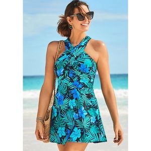 Swimsuits For All High Neck Wrap SwimDress NWOT 20